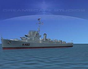 UK Captains Class Frigate HMAV Goodson 3D model