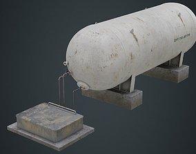 Industrial Gas Tank 1B 3D asset