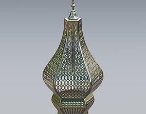 3D model Antique Moroccan metal lantern