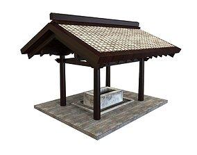 Oriental Gate 3D asset