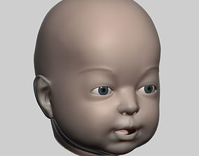 Baby head 01 3D character