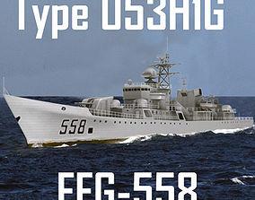 Chinese Navy Type 053H1G Jianghu-V Class Missile 3D asset