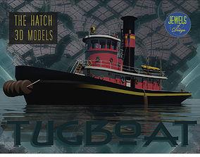 Old tugboat 3D model