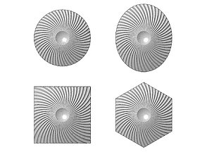 Spiral pattern panel or tile 3D print model