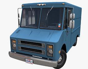 3D model VR / AR ready Industrial Step Van