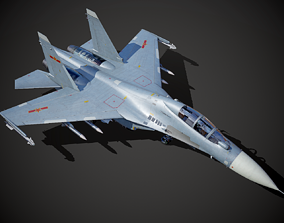 3D asset China PLA Navy Su30MKK Su-30 MK2 Fighter-bomber 1