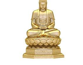 3D print model 1966 Gold Buddha on Lotus Seat