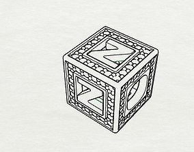 Baby Block Charm - Z 3D print model