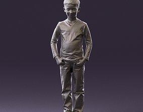 Boy in stripped armani blouse 0883 3D Print Ready