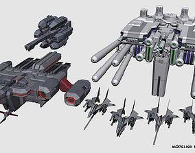 SA-77 Shilpheed Spacecraft Set 3D model