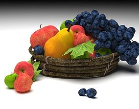 3D asset animated fruits ripe and unripe