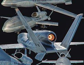 3D asset RQ 4 Global Hawk Drone