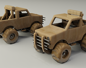 3D model low-poly Children Toy Truck