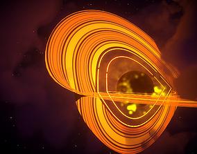 black hole in deep space 3D model