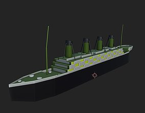 3D asset Titanic Low Poly