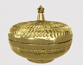 Palace Round Brass Box 3D asset