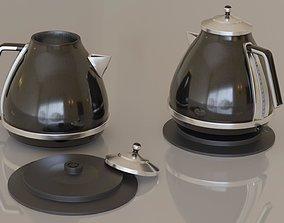 Contemporary colourful kettle1-black 3D asset