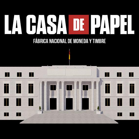 Video Edificio Building La Casa de Papel - Money Heist 3D model
