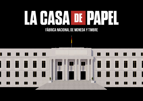 Video Edificio Building La Casa de Papel - Money Heist 3D model