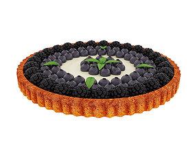 3D model Blackberry blueberry tart