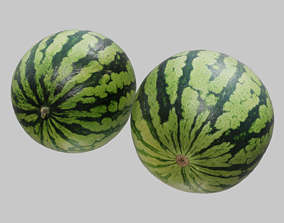 3D model Ultra realistic Watermelon Scan 8k HD