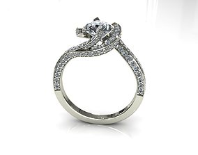 Diamond Ring Creative D00104 3D print model