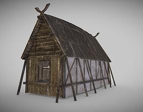 Viking Longhouse 3D model