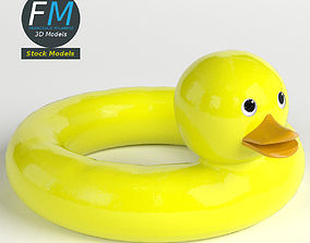 3D model Inflatable duck lifebuoy