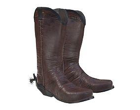 3D model cowboy boots 2