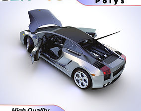 Lamborghini Gallardo Superleggra 2008 3D model sports