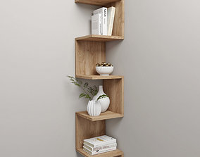 3D corner shelf and decor