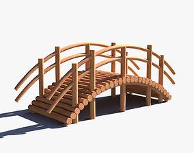 3D asset realtime Arch Wooden Footbridge 01 Game Ready