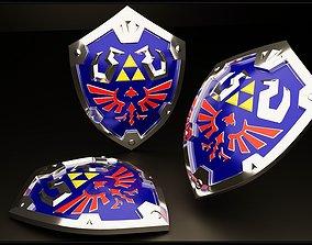 warrior 3D model Hylian shield