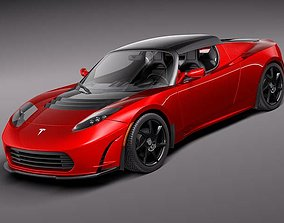 Tesla Roadster 2 5 2011 3D model
