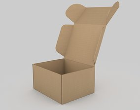 3D model Adjustable and Rigged Box Package