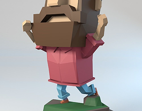 3D print model LowPoly Man