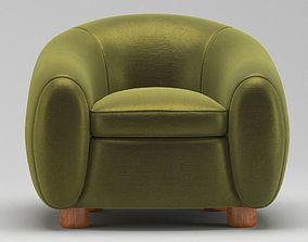 Green Chair three 3D model