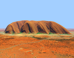 Ayers Rock Uluru Mountains - Australia 3D