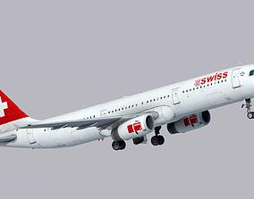 Airbus A321-200 Swiss International Air 3D model