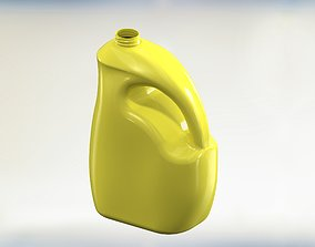 3D printable model Gallon Curved Plastic HDPE Mold