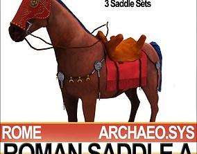 Saddle Ancient Rome Bridle Harness A 3D