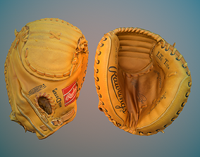 Baseball Glove 3D model low-poly