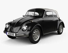 3D Volkswagen Beetle convertible 1975