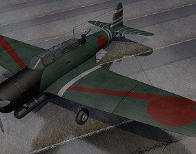 plane 3D model Nakajima B5N2 Kate