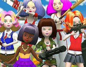 animated 3DRT - Candy Squad Girls Bundle