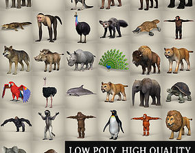 Animal Collection 3D model realtime