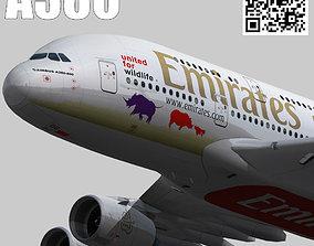 Airbus A380-8 Emirates Wildlife A6-EDG 3D model