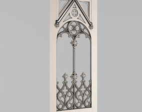 3D printable model balustrade Carved door