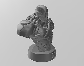 3D print model art Cyborg Bust