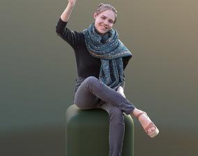 3D asset Marie 10402 - Sitting Casual Girl